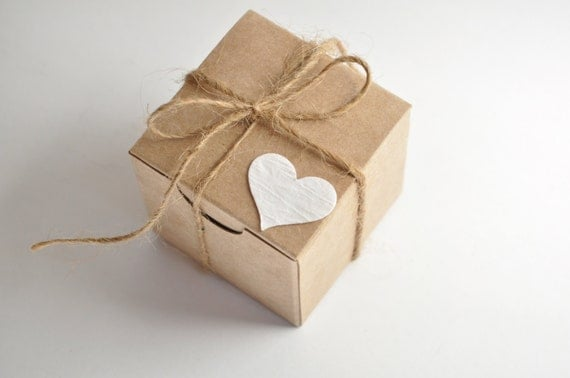 rustic wedding favor boxes 100 boxes kraft favours small gift box
