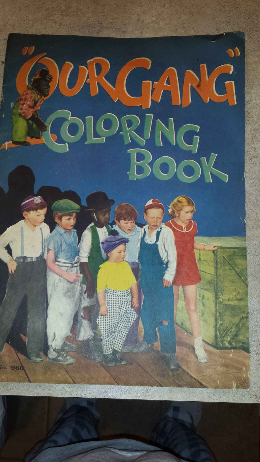 little rascals coloring pages - 1933 little rascals our gang coloring book 966