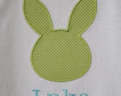 BOYS EASTER Shirt, BUNNY Appliqué, Brother Sister Sibling Set, Personalized, Monogrammed, Embroidery. Baby, Toddler, Tee, Bodysuit, T-Shirt