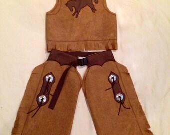 4T-6T Cowboy Chaps and Vest