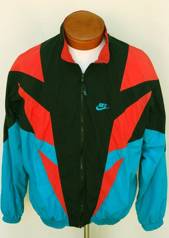 Vintage 90s Nike Color Block Windbreaker Jacket Turquoiose