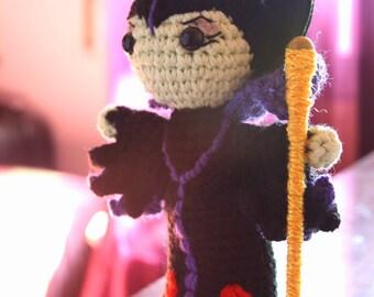 Maleficent Kawaii crochet amigurumi doll · Handmade Crochet toy plush