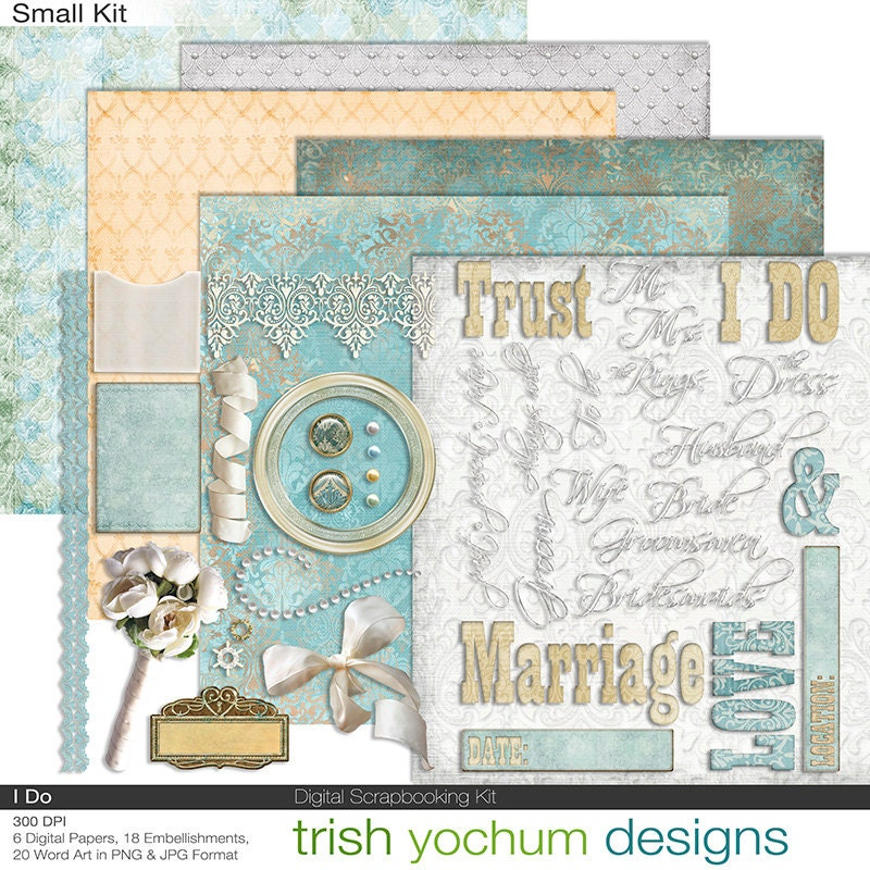 free wedding scrapbook clipart - photo #29