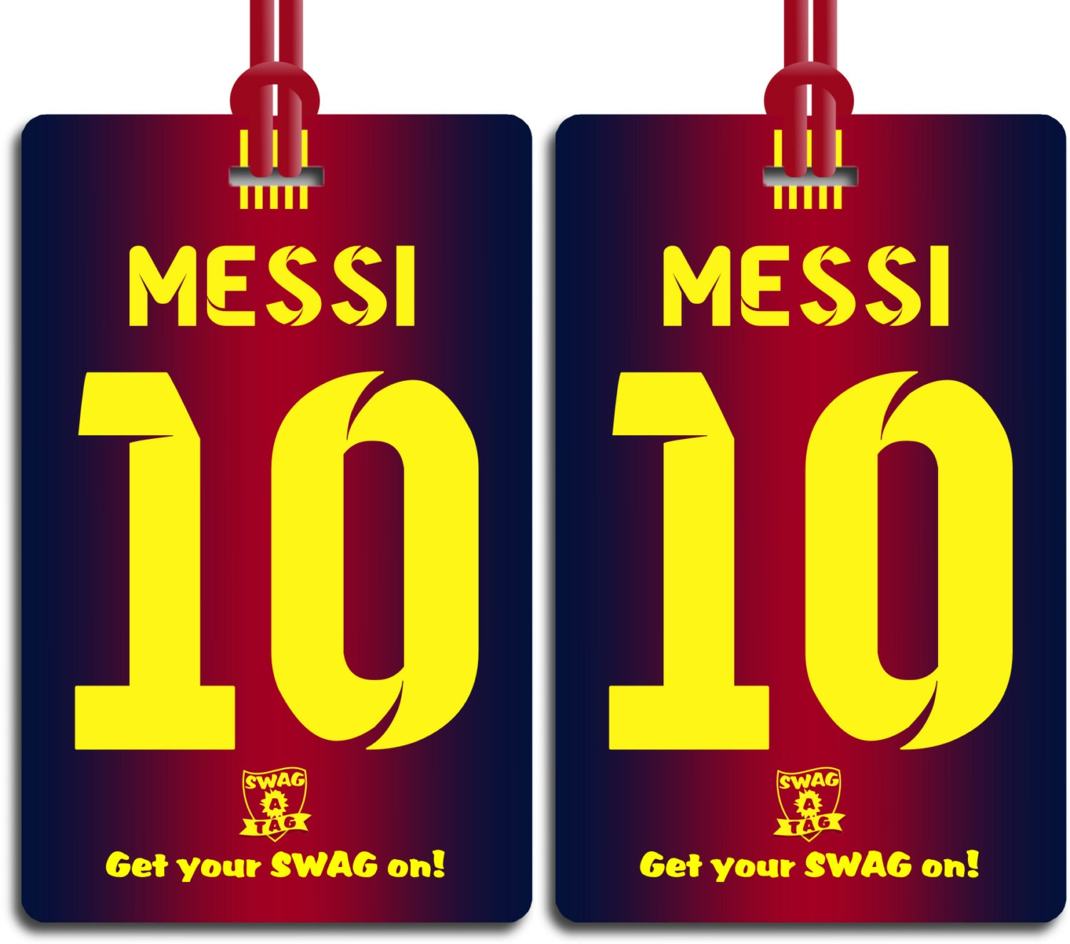 SwagTagz LIONEL MESSI 10 Barcelona Fade Jersey