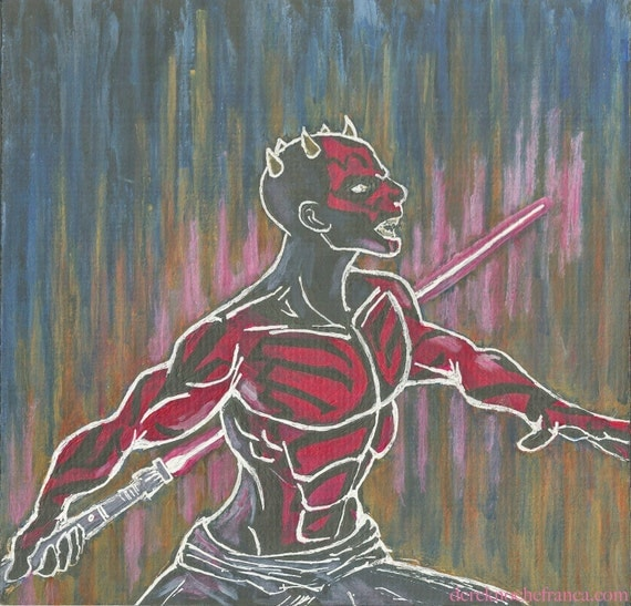 ORIGINAL Darth Maul painting