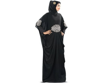 Dubai Fancy Kaftan, Evening party Wear, Islamic Clothing, Muslim Long Maxi Dress, Elegant Embroidered, Women Burka KF008S