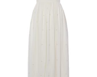 US16 UK20 AUS20 EU48 Cream Plus size Vintage inspired 20s Flapper Great Gatsby Art Deco Hand Embellished Wedding Bridesmaid Prom Maxi Dress