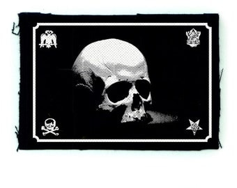 Skull patch, Punk Patch, Horror, Black
