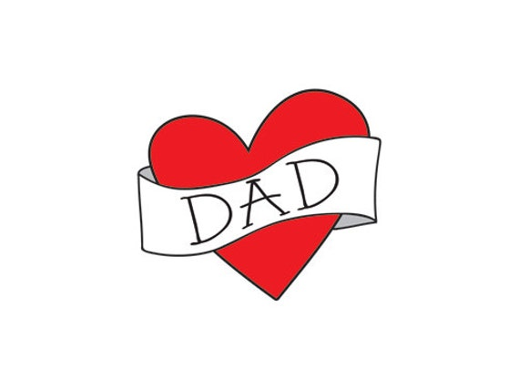 funny valentines day gift for dad temporary tattoo by happytatts. Black Bedroom Furniture Sets. Home Design Ideas