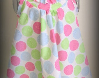 Spotted pastel dress for 18months - 2year old girl