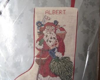 Cross Stitch Kit - Christmas Stocking - Antique Santa - Something Special - Candamar Designs - NEW NIP