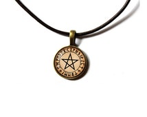Pagan pendant Magic pentacle necklace Occult jewelry NW215