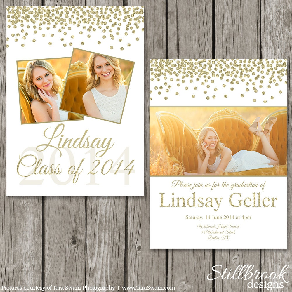 Graduation announcement template senior grad photo card for Senior announcement templates free