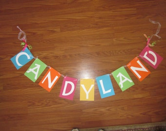 Candyland Birthday Banner Birthday Decoration Happy