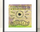 Moustache Cyclops - original wall art painting by CatchphraseDan