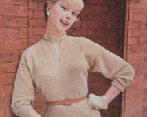 Vintage Stitchcraft magazine AUG 1954. Crafting,knitting,and embroidery vintage patterns.Vintage craft supplies/patterns.