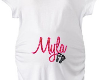 Custom Maternity Shirt!  Personalize for baby name, colors and theme!