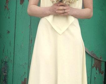 Vintage 1970s Boho Hippy Wedding Dress/Bridal/Prom/Festival/Party/Hold My Hand