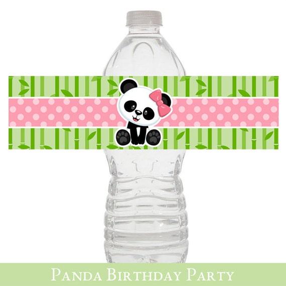Panda Water Wrapper, Baby Shower, Panda Baby Shower Water Label, Water  Wrapper, Baby Shower Party Decorations
