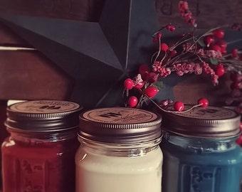 Soy Candle-8oz Soy Mason Jar, Maximum Scented Candle