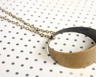 Midnight Blue Brass Pipe Necklace