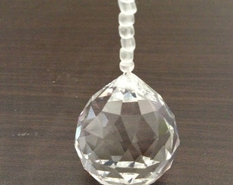 30mm Hanging Crystal Sun Catcher with Glass Beads- Creates Good Lucky Feng Shui in Your Home