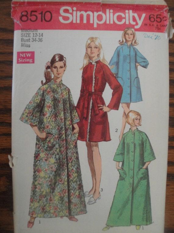 Robe de chambre ou de patron de couture bath robe vintage 1969 for Chambre de la couture