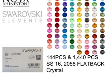 SS 16 Swarovski Element Flatback Not Hotfix 2058 CRYSTAL 144pcs or 1440pcs your choice