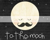 Love You to the Moon and Back Print-8x10-Kids Art / Kids Room