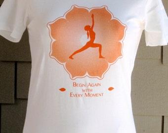 Yoga t-shirt Warrior 1 on White