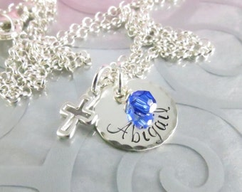 First Communion Necklace - Holy Communion Necklace - Personalized Name - Communion Jewelry - Confirmation - Baptism Jewelry