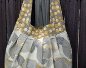 Amy Butler Birdie Sling Purse ~ Grey & Yellow Amy Butler Print Fabric