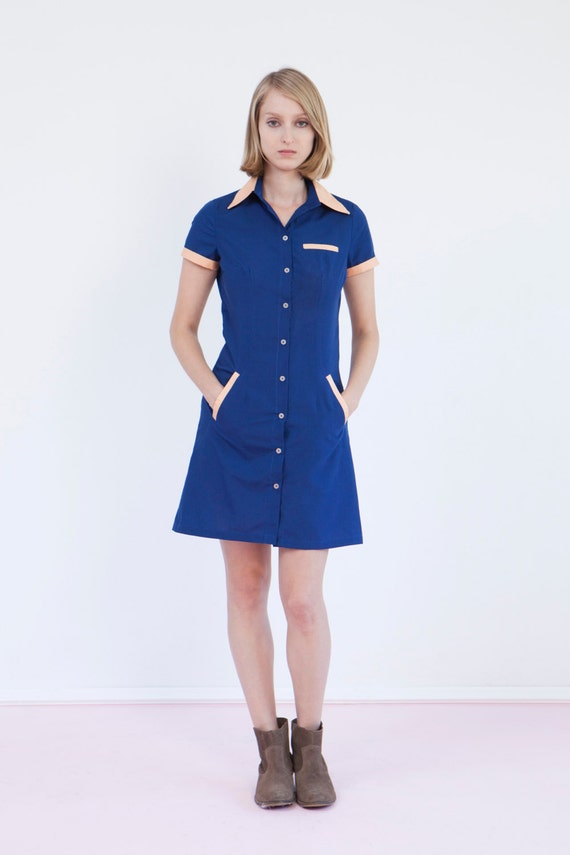 FINAL SALE GET 30% Off Waitress uniform retro dress diner