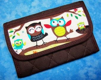 Women Wallet Credit Card Wallet Cute Owl Small Wallet Business Card Wallet Credit Card Holder Cloth Wallet Ladies Wallet Mini Wallet Velcro