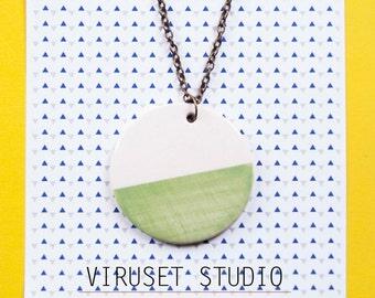 Delicate ceramic pendant necklace, Minimalist pendant, ceramic pendant, modern pendant, Ceramic jewelry, Ceramics and pottery, ceramics