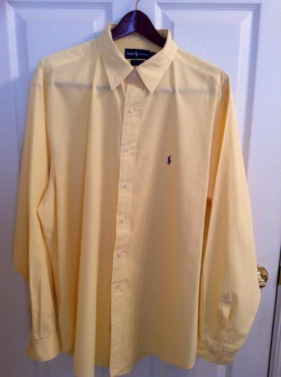 Men 39 s ralph lauren long sleeve button down by for 18 36 37 shirt size