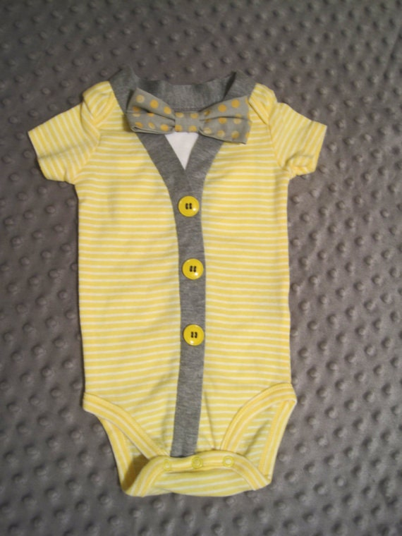Infant one pieces bow tie bodysuits baby outfit with for Baby shirt and bow tie