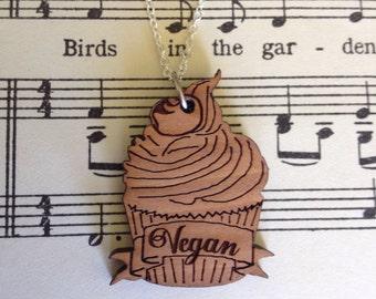 Vegan cupcake necklace