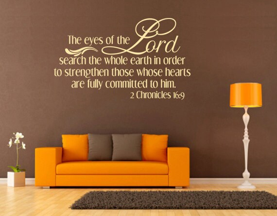 Spiritual Wall Decal. The Eyes Of The Lord By
