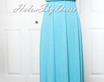 Blue Bridesmaid Dress Wrap Convertible Dress blue Infinity Dress Maxi Dress
