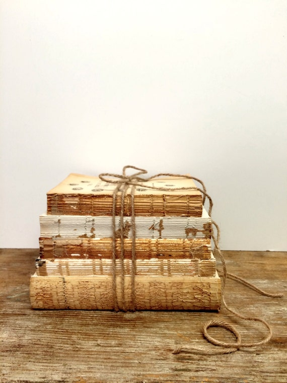 Books with Lace, Display Books, Rustic Wedding, Uncovered Books, Vintage Centerpiece, Rustic Wedding, Book Decor, Book Bundle, Bridal Shower