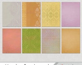Journaling card background ATC collage sheet, ATC backgrounds, print at home.