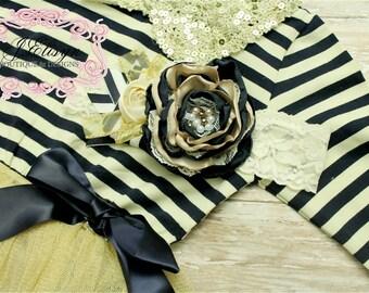 Navy BLUE gold champagne couture headband- handmade couture headband mtm dress