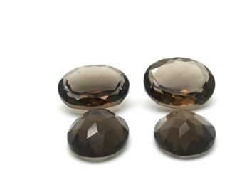 GCF-1122 - Smoky Quartz Gemstone - Oval 16x20mm - Calibrated Gemstones - AA Quality - 1 Pc