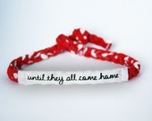 Red Friday Military Support Bracelet - Army, Marines, Air Force, Navy, Soldier Wife, Girlfriend, Fiance (women, teen girl)