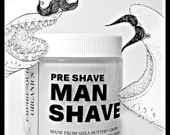 Organic Pre Shave Butter - Pre Shaving Butter - Natural Shaving Cream - Organic Shave Cream