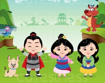 Princess Digital Clipart, Princess Clipart, Princess Clip Art, Cute Princess Clipart