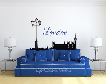Clock Wall Decal Etsy