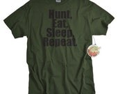 Hunting shirt for men funny hunting tshirt Hunt Eat Sleep Repeat gift for hunter outdoorsman gift