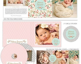 Marketing Set for Photographers, Photography Branding, Template for Photographers - Belles Fleurs - MK139D